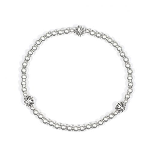 Armband zilver flowers