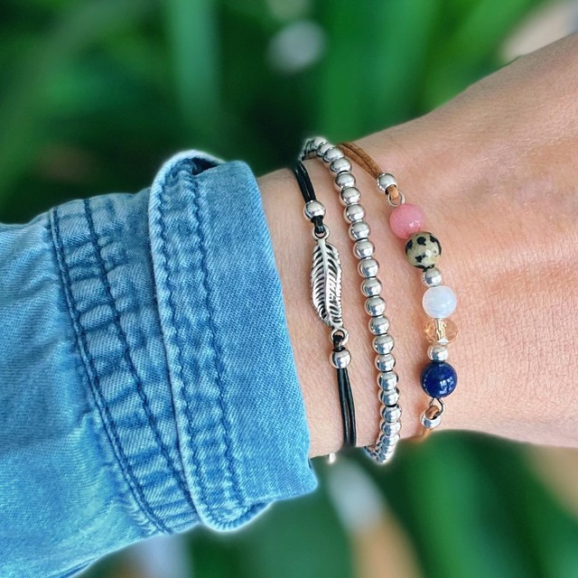 Nature armband blue mix set