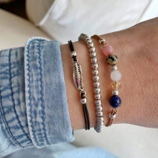 Nature armband blue mix set 2
